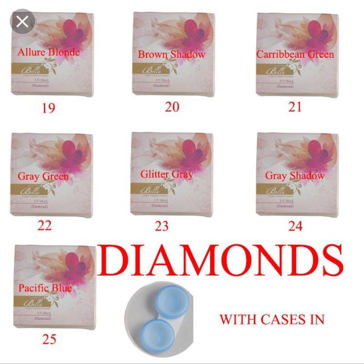 Lentilles de contact Cosmétiques Bella diamond de Bella