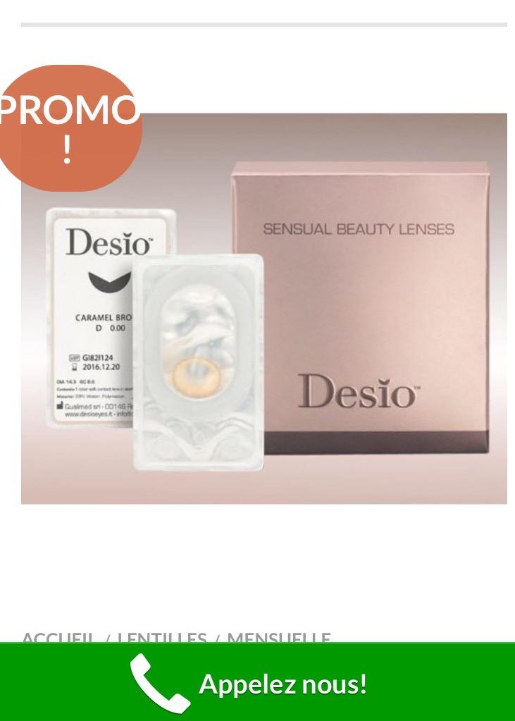 Lentilles de contact Cosmétiques Cosmetique de Desio
