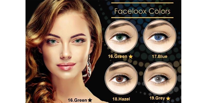 Lentilles de contact Cosmétiques Faceloox naturals de Faceloox